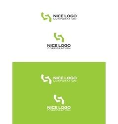 simple green logo vector image vector image