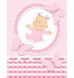 Smiling baby girl vector image