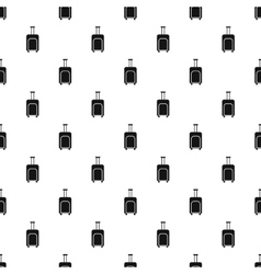 Suitcase on wheels pattern simple style vector image