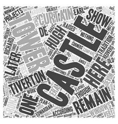 Tiverton castle word cloud concept vector
