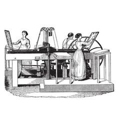 Treadwell platen printing press vintage vector