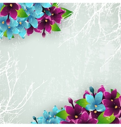 Vintage Background With Spring Lilac vector image