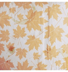 Vintage floral autumn fall background with maple vector
