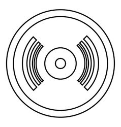 Vinyl record icon outline style vector