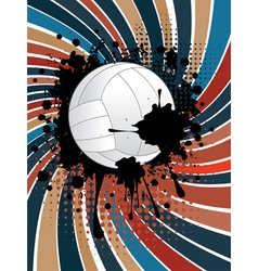 Volleyball Ball on Rays Background3 vector image vector image