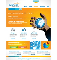 Website template for corporate business and cloud vector image vector image