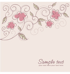 Floral twirl postcard vector