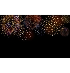 Firework bursting sparkle background set vector