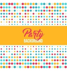 Multicolored dot background for disco party poster vector