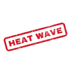 Heat wave text rubber stamp vector
