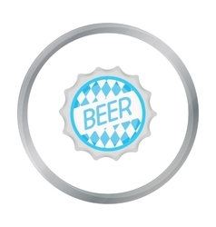Bottle cap icon in cartoon style isolated on white vector