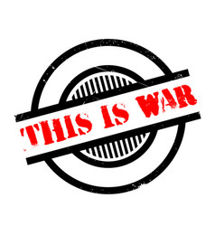 This is war rubber stamp vector