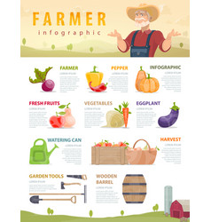 farm and agriculture infographic concept vector image