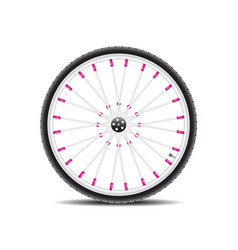 bicycle wheel and shadow vector image
