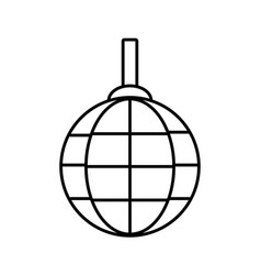 Disco lamp icon vector