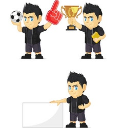 Spiky rocker boy customizable mascot 2 vector