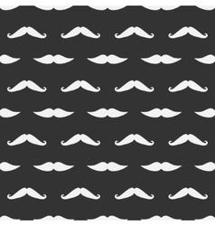 dark mustache seamless pattern vector image