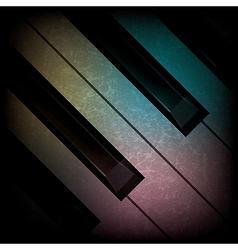 Abstract grunge dark music background with piano vector