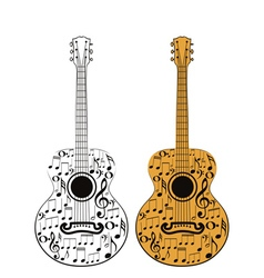 Guitar and Music Notes2 vector image