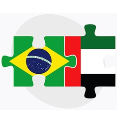 Brazil and united arab emirates flags vector