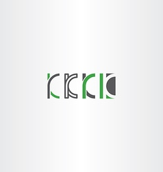 Letter k set logo icon green gray vector