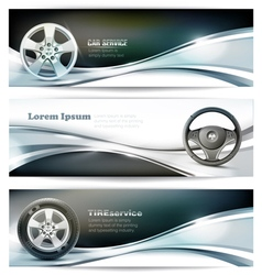 Banners for car service vector image