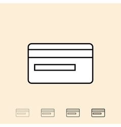 icon of credit card vector image