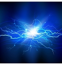 Blue lightning background vector