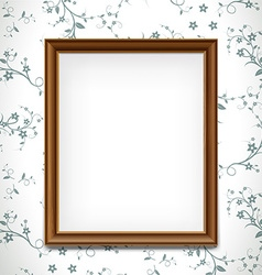 Wooden frame stock vector