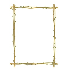Twig sprig frame pattern background vector