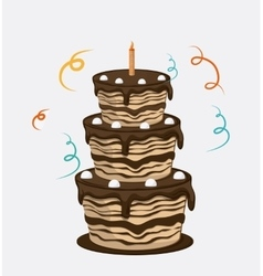 Cake icon design vector