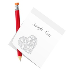 abstract love note vector image