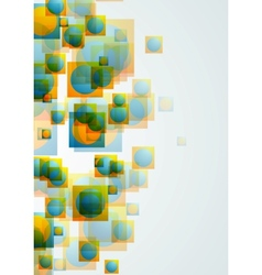 Abstract bright geometric concept background vector