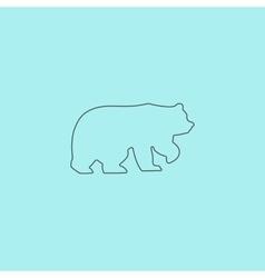 Bear symbol - vector image