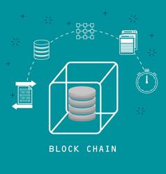 Block chain tecnology concept vector