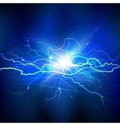 Blue Lightning Background vector image vector image