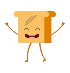 breakfast food character cute icon vector image