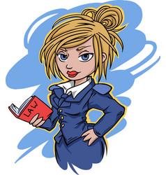 cartoon style girl vector image vector image