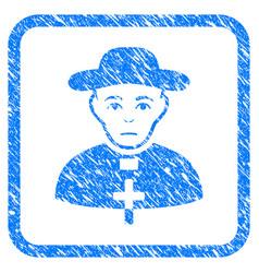 Catholic shepherd framed stamp vector