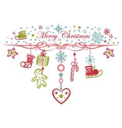 Colorful christmas garland vector