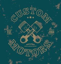 Custom motors T-shirt graphics vector image