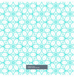 Cute blue floral style pattern background vector