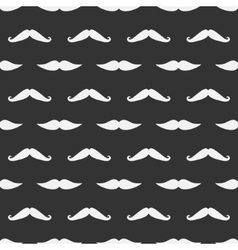 dark mustache seamless pattern vector image