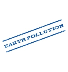 Earth pollution watermark stamp vector
