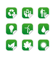 Ecological labels vector