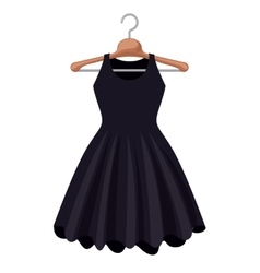 female fashion dress isolated icon design vector image