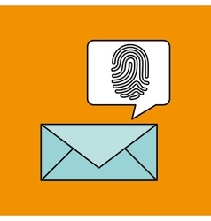 Finger print email icon design vector