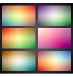 Geometric triangles background collection vector