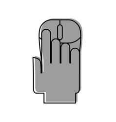 Hand human with computer mouse vector