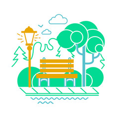 icon of a calm park vector image vector image